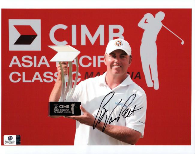 Bo Van Pelt Signed Autographed 8X10 Photo PGA Golfer Holding Trophy GV793891