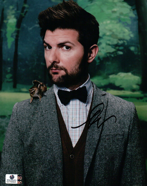 Adam Scott Signed Autographed 8X10 Photo Parks and Recreation Squirrel GV793924