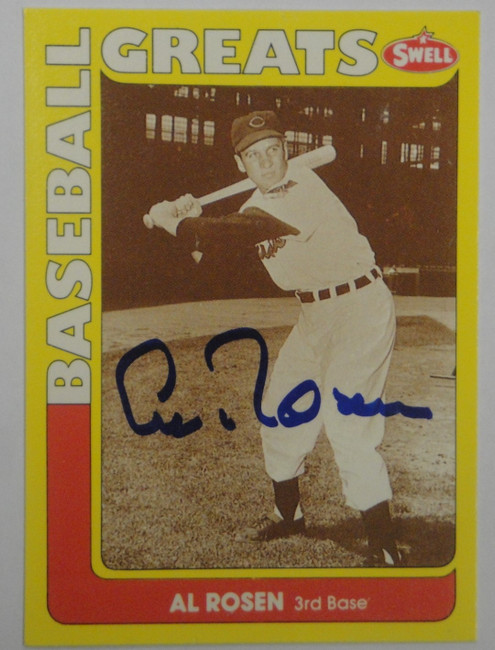 Al Rosen Hand Signed Autographed Swell 1990 Trading Card Greats GA GX 19480