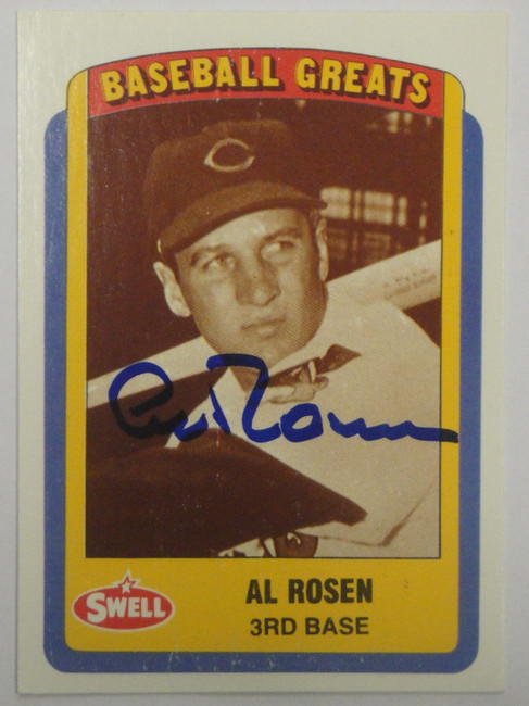 Al Rosen Hand Signed Autographed Swell 1990 Trading Card Greats GA GX 19457