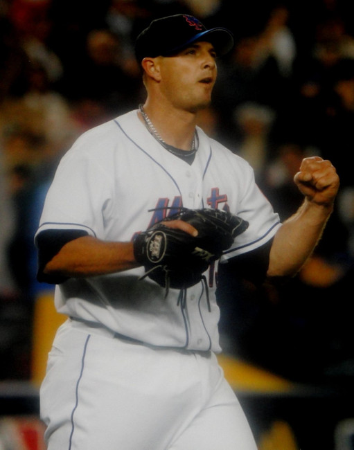 Billy Wagner Unsigned 16x20 Photo New York Mets Pitching Fist Pump Close Up