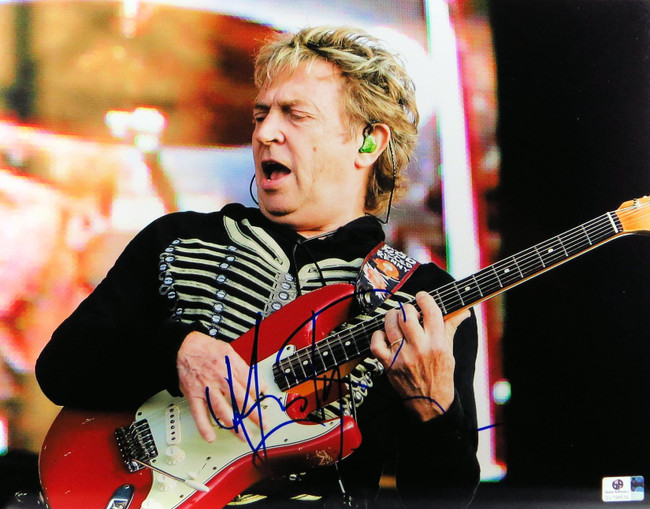 Andy Summers Signed Autographed 11X14 Photo The Police Guitarist On Stage 796639