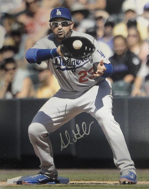 Adrian Gonzalez Hand Signed Autographed 16x20 Photo Los Angeles Dodgers Glove