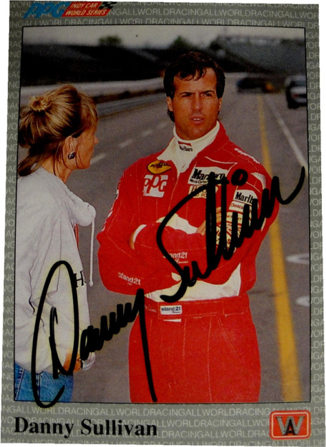 Danny Sullivan Hand Signed Autographed Card PPG Indy Car Racing All Word
