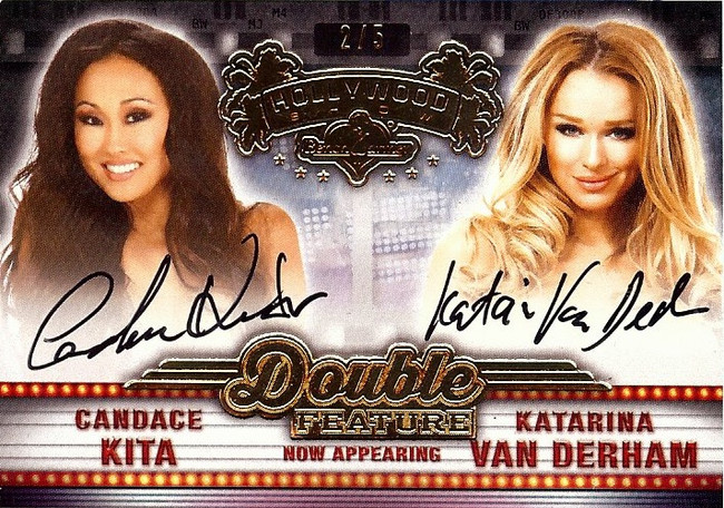 Candace Kita Katarina Van Derhman 2015 Benchwarmers Hollywood Dual Autograph 2/5