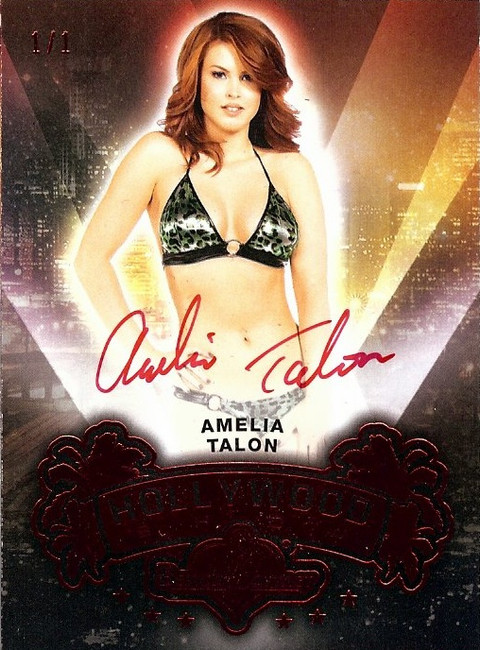 Amelia Talon 2015 Benchwarmers Hollywood Show Red Autograph Sexy Auto 1/1
