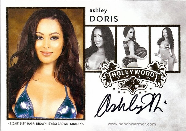 Ashley Doris 2015 Benchwarmers Hollywood Show Composite Auto Autograph Sexy