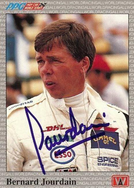 Bernard Jourdain 1991 All World Indy Signed Card Auto