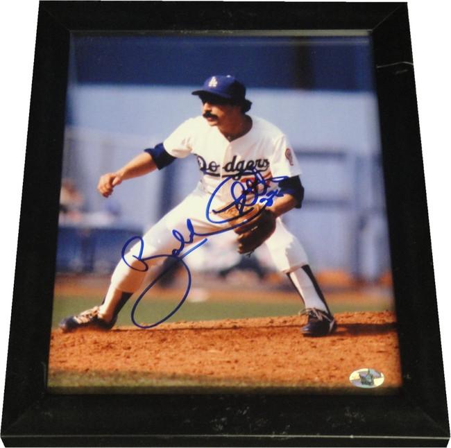 Bobby Castillo Signed Autographed 8X10 Photo in Basic Black Frame Dodger Scratch