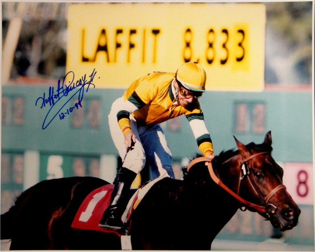 Laffit Pincay Jr Hand Signed Autograph 16x20 Photo Kentucky Derby Jockey 12 1999