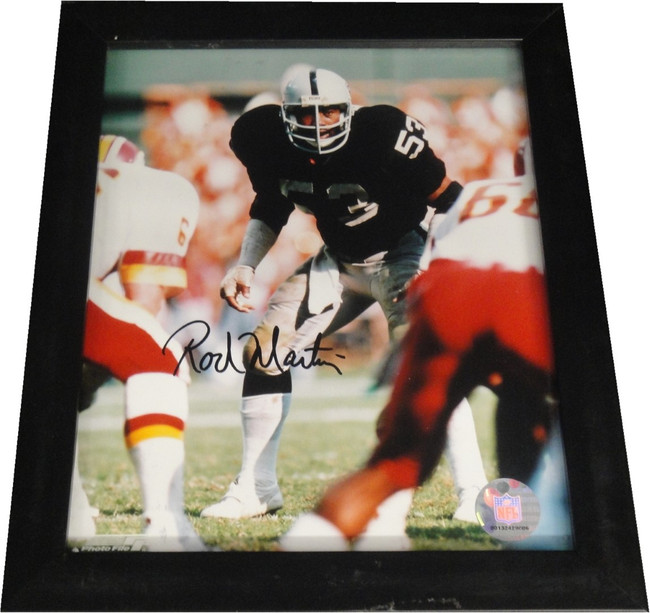 Rod Martin Hand Signed Autographed 8x10 Photo Framed Oakland Raiders