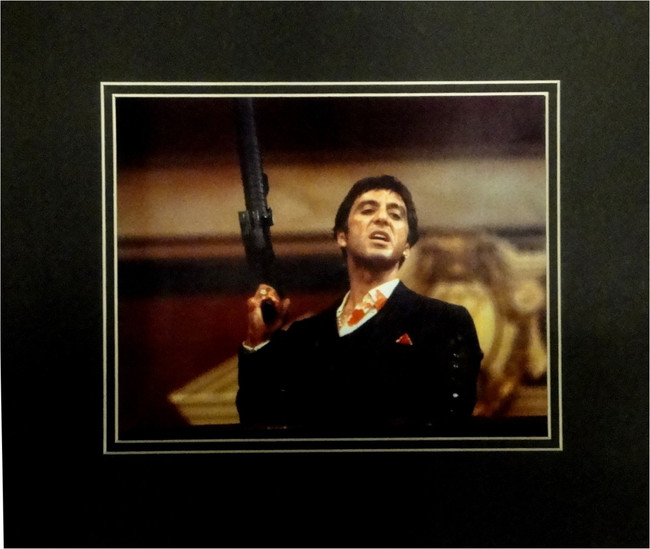 Al Pacino Unsigned 8x10 Photo Matted to fit 11x14 Holding Holding Gun Scarface