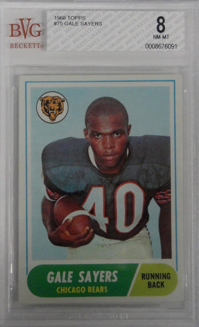 Gale Sayers 1968 Topps #75 Graded BVG BGS 8 NM-MT HIgh Grade Centered Bears 093