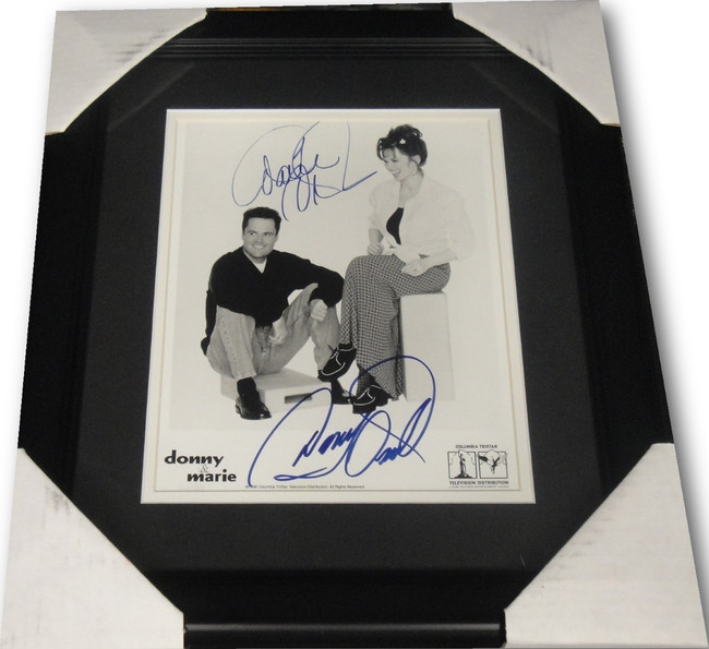 Donny & Marie Osmond Dual Hand Signed Autographed 8X10 Photo Custom Framed