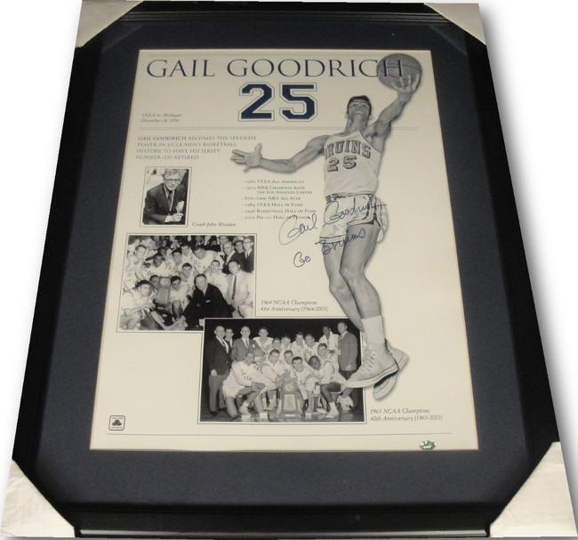 Gail Goodrich Hand Signed Autographed 18x24 Custom Framed Photo UCLA