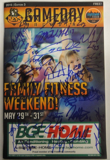 2015 Frederick Keyes Team Signed Autographed Program Trey Mancini Plus Baseball