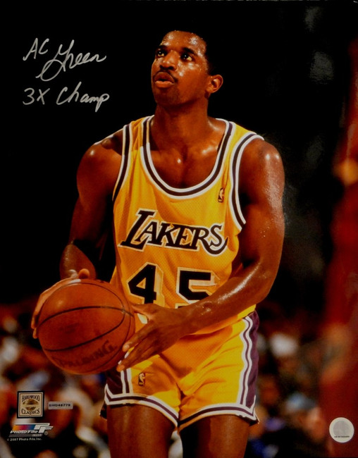 AC Green Signed Autographed 16x20 Photograph LA Lakers 3x  Champs UDA A.C
