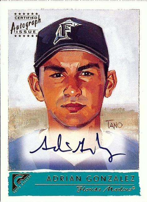 Adrian Gonzalez 2001 Topps Gallery Auto Autograph Marlins Dodgers #GA-AG