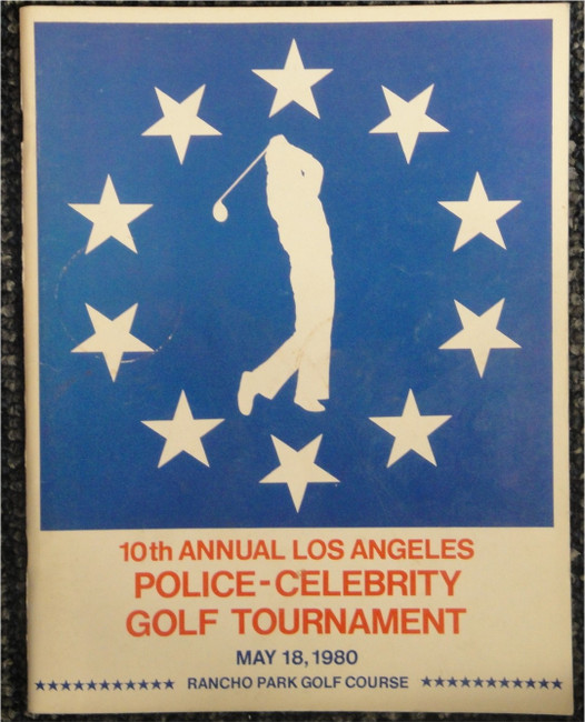 1980 Police Celebrity Golf Program Signed Jerry West Harvey Korman David Doyle