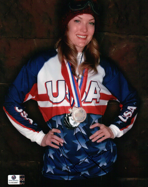 Amy Purdy Signed Autographed 8X10 Photo Paralympic Snowboarder Bronze GV809867