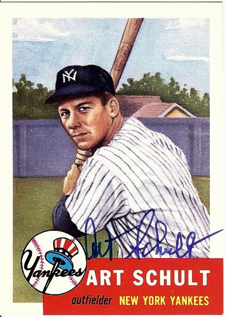 Art Schult Signed Autographed Baseball Card 1991 Topps Archives Yankees GX19667