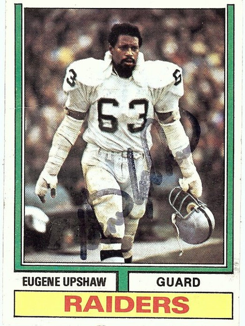 Gene Upshaw Signed Autographed Football Card 1974 Topps Raiders PSA/DNA 87555