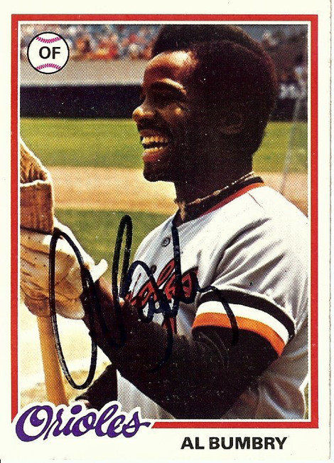 Al Bumbry Signed Autographed Baseball Card 1978 Topps Orioles #188 GX19658