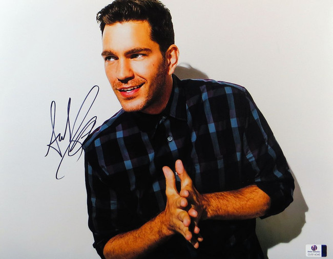 Andy Grammer Signed Autographed 11X14 Photo Sexy Blue Plaid Shirt GV814345