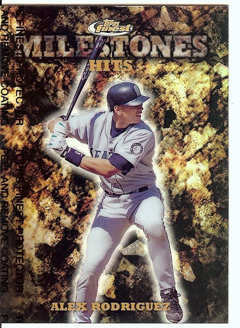 Alex Rodriguez 1999 Finest Milestones Seattle Mariners #M8 2452/3000