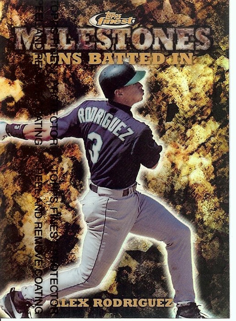 Alex Rodriguez 1999 Finest Milestones Seattle Mariners #M28 0328/1400