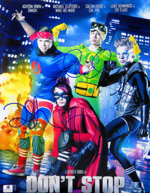 5 Seconds of Summer Band Signed 11X14 Photo Hemmings/Hood/Irwin/Clifford 816178