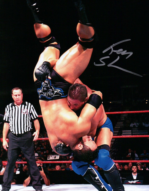 Ken Shamrock Signed Autographed 8X10 Photo MMA UFC Fighter WWF Body Slam w/COA
