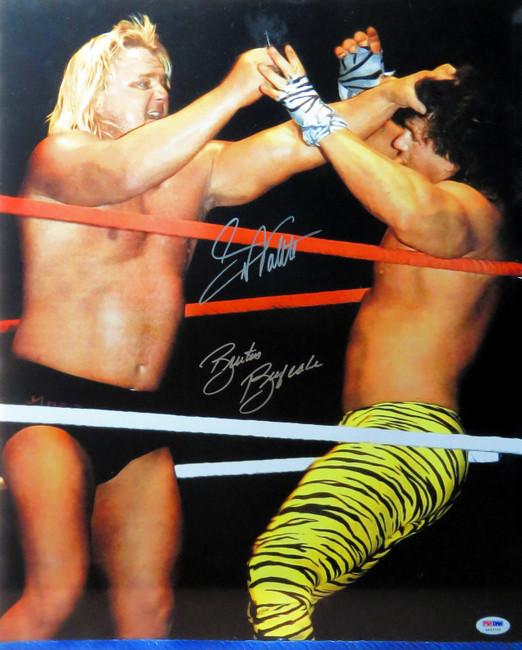 Greg Valentine Brutus Beefcake Dual Autographed 16X20 Photo WWF WWE PSA/DNA