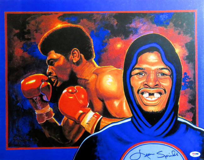 Leon Spinks Signed Autographed 16X20 Poster Artwork Smiling PSA/DNA