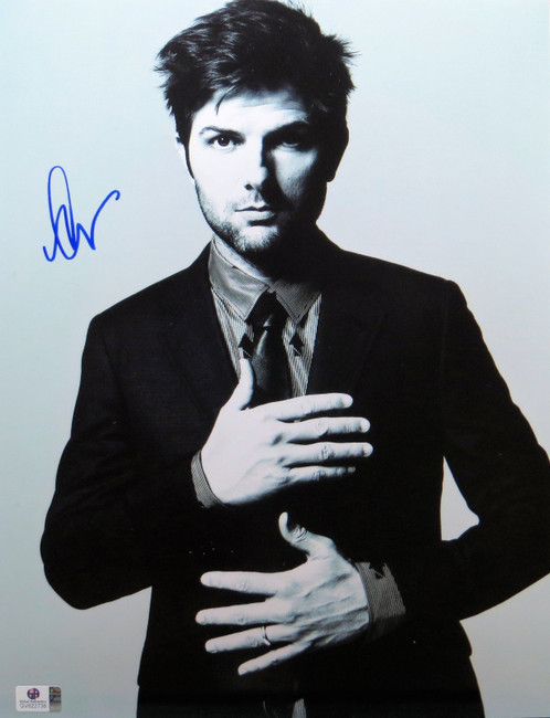 Adam Scott Signed Autographed 11X14 Photo Classic Sexy B/W Suit GV822738