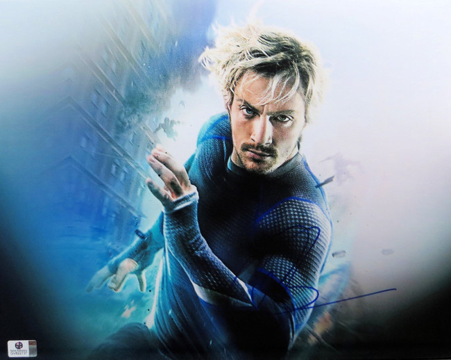 Aaron Taylor-Johnson Signed Autographed 11X14 Photo Avengers Quicksilver 822737