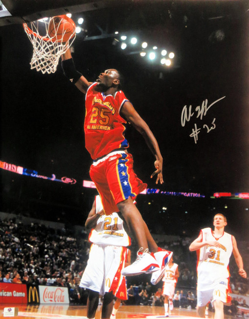Al Jefferson Signed Autographed 16X20 McDonald's All American Slam GV822644