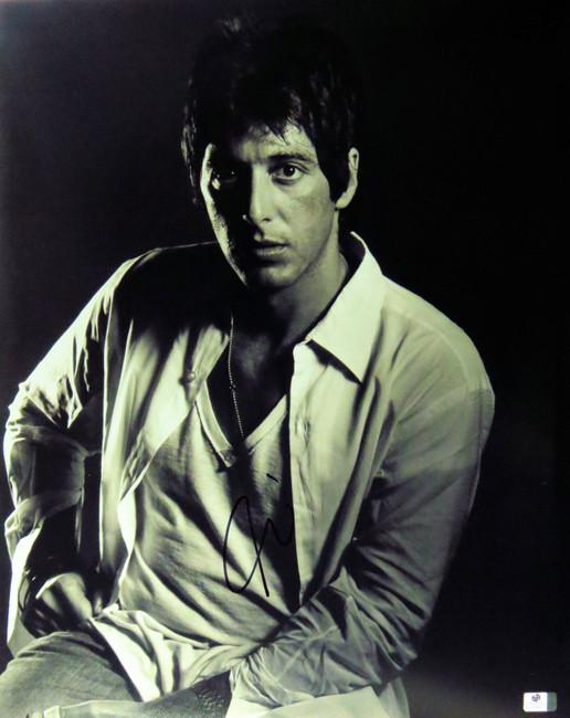 Al Pacino Signed Autographed 16X20 Photo Vintage Classic B/W Pose GV834837