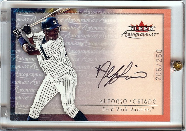 Alfonso Soriano 2000 Fleer Autographics Auto Autograph Yankees #NNO 206/250