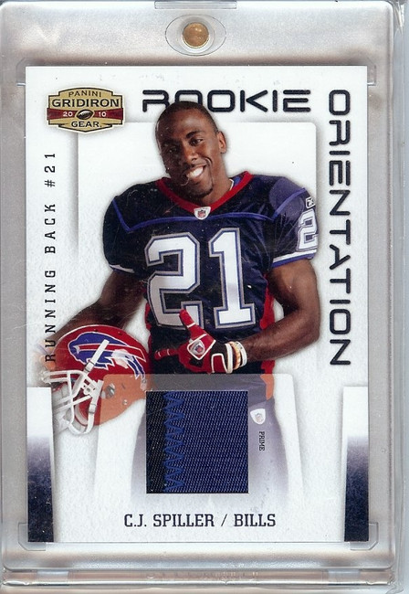C.J. Spiller 2010 Gridiron Gear Rookie Orientation Patch 2 Color Bills #23 18/25