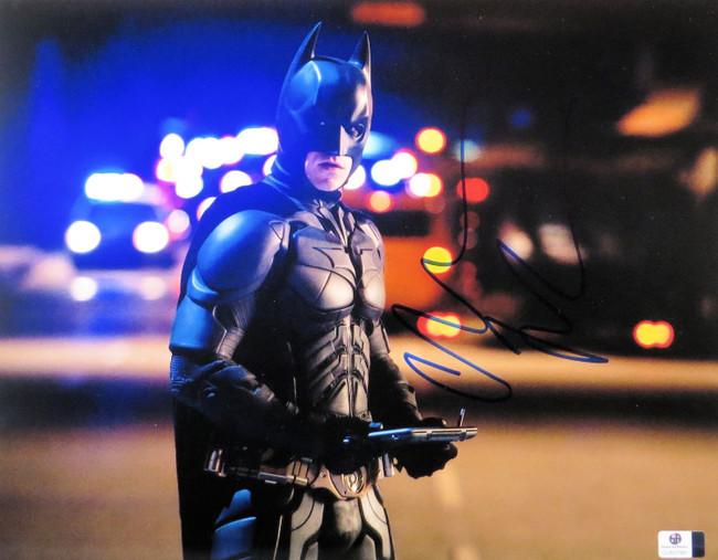 Christian Bale Signed Autographed 11X14 Photo The Dark Knight Batman GV837981