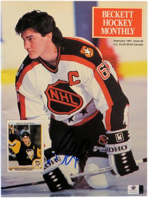 Mario Lemieux Signed Autographed Becektt Magazine February 1991 Penguins 838282