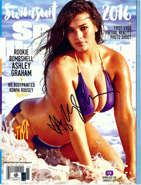 Ashley Graham Signed Autographed SI Magazine Cover Sexy Bikini Swimsuit GV838725