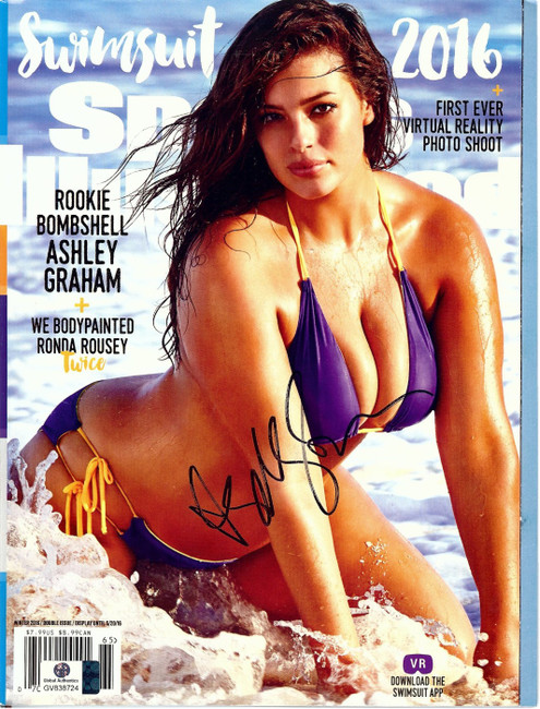 Ashley Graham Signed Autographed SI Magazine Sexy Swimsuit Cover Bikini GV838724