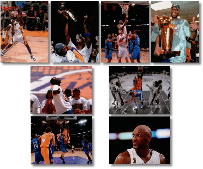 8 Different Lamar Odom Unsigned 8X10 High Quality Lakers Photos Photographs NBA