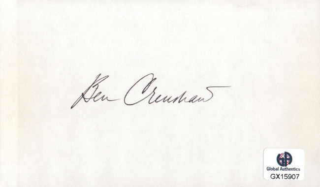 Ben Crenshaw Signed Autographed Index Card PGA Golf Legend Masters GX15907