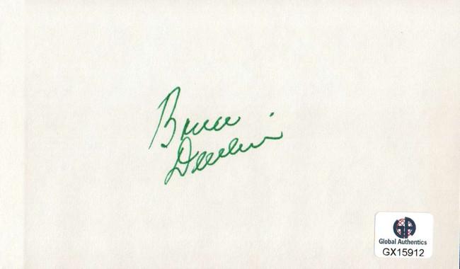 Bruce Devlin Signed Autographed Index Card PGA Golf Legend Masters GX15912