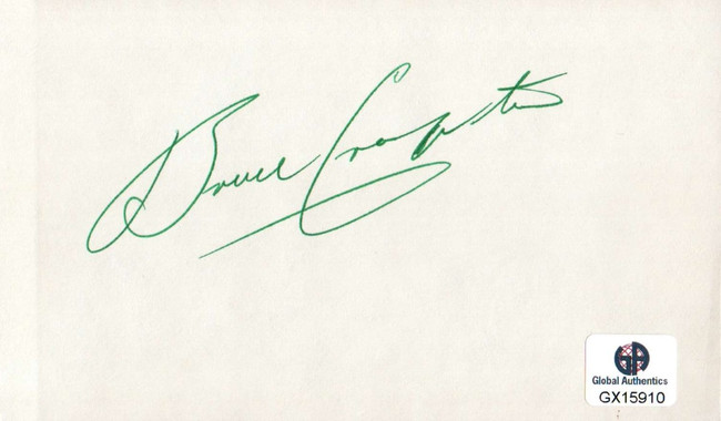 Bruce Crampton Signed Autographed Index Card PGA Golf Legend Masters GX15910