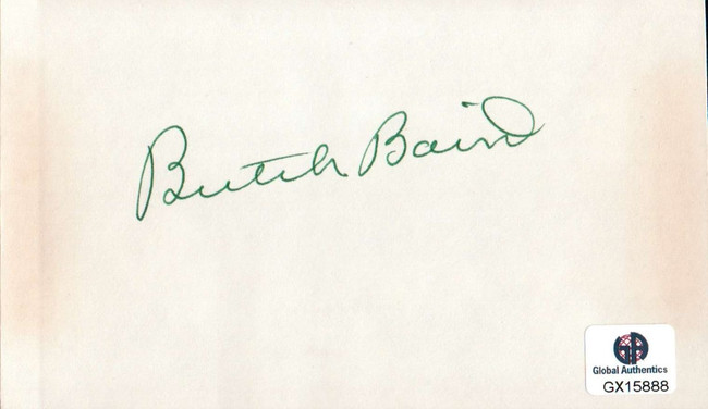 Butch Baird Signed Autographed Index Card PGA Golf Legend Masters GX15888