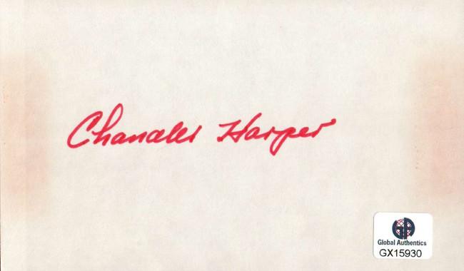 Chandler Harper Signed Autographed Index Card PGA Golf Legend Masters GX15930